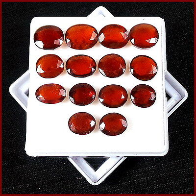 52.10 Cts/14 Pcs Top Quality Untreated Natural Hessonite Garnet Ceylon Gemstones