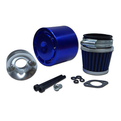 Air filter Set With ALU.Blue cover for 1/5 RC Hpi Baja RV King Motor 5B 5T 5SC