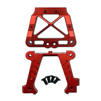 Alloy Rear Bulk Head Set Reddish orange for Hpi Baja 5B 5T 5SC
