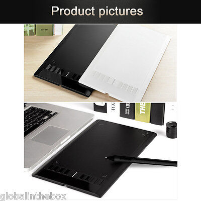 """UGEE M708 10""""x 6"""" Drawing Area Digital Art Graphics Drawing Tablet with Pen UK"""