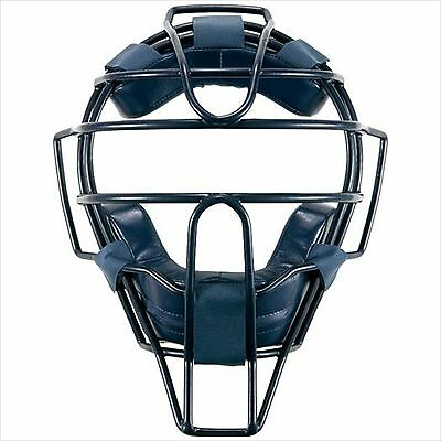 Mizuno PRO Japan Baseball Umpire Catchar Mask with Throat Guard 2QA129 14 Navy