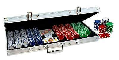 Casino 500 ProPoker 11.5g Clay Poker Chips Set Game with Aluminum Case New