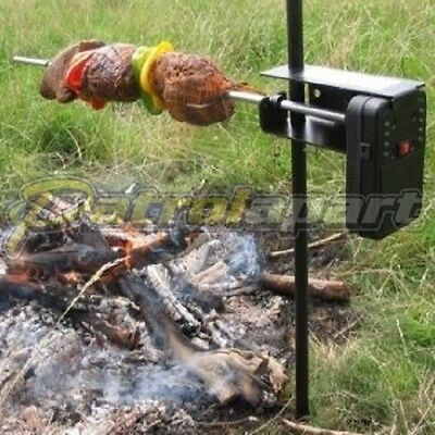 Auspit Basic Rotisserie Spit Kit Portable for Camping & 4wding ( AUSAUP...