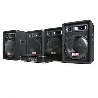 Hifi Disco Dj Set Pa Amp Speakers Presentation System *free P&p Special Offer