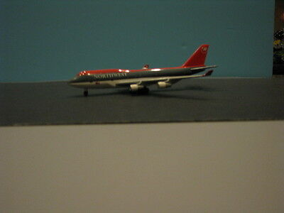 2 Slightly Different Herpa Wings Northwest 747-400's 1:500 Scale Diecast Models