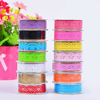 5 PCS Adhesive Lace Chic Decorative Crafts Masking Roll Sticky Paper New DIY