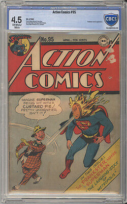 Action Comics # 95  The Prankster Laughs !  CBCS 4.5 scarce Golden Age book !