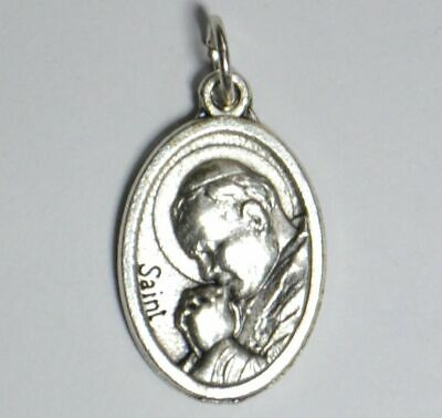 SAINT JOHN PAUL II Medal Pendant, SILVER TONE, 22mm X 15mm, MADE IN ITALY