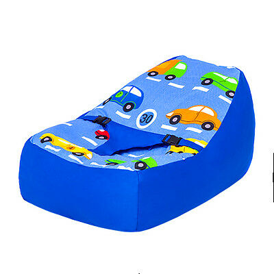 Traffic Express Nursery Baby Bean Bag Cotton Secure Zip Cover Seat Chair Beanbag