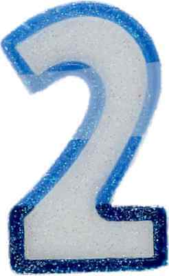 Number 2 Candle BLUE