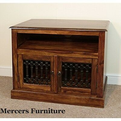 Indian Jali Straight TV Unit Solid Sheesham Rosewood by Mercers Furniture®