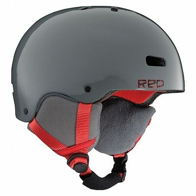 RED - Trace grom - casco snowboard/sci Bambino - (trench gray)