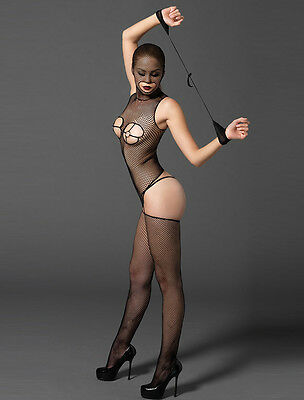RBM Sexy HOODED Bodystocking Ensnare Size 8 10 12 Create a Night to Remember