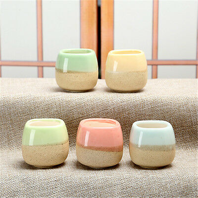 Mini Glazed Succulent Planter Garden Ceramic Flower Bonsai Pot Plant Box Decor