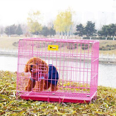 "20"" 50cm Small Dog Cage Pet Puppy Crate Folding Metal Training Travel Carrier AY"