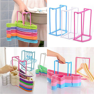 Smart Design Clothes Hanger Stacker Holder Storage Organizer Rack 4Color MAX