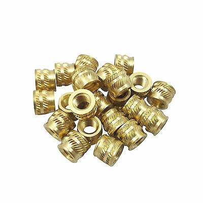 Qty 20 M5 5mm M5-0.8 Brass Threaded Heat Set Inserts 3D Printing Screws Metal