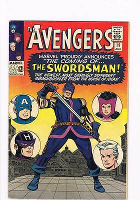 Avengers # 19  The Coming of the Swordsman !  grade 4.5 scarce book !