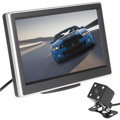 5 Inch LCD Screen Display Car Vehicles DVD VCR Rearview Cameras Reverse Monitor