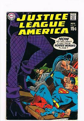 Justice League of America # 75  Black Canary Joins JLA ! grade 5.5 scarce book !