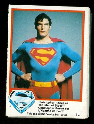 SUPERMAN MOVIE 1978 O PEE CHEE SET OF 131/132 CARD + 6 stickers DC COMICS
