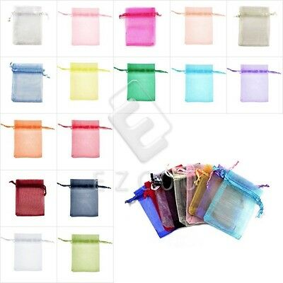 25/50/100/200pcs Organza Bag Wedding Favour Party Xmas Gift Candy Pouch 13x18cm