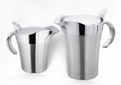 Judge Thermal Gravy Boat Pot Jug Double Walled Silver Chrome 500ml Or 650ml