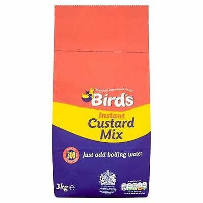 Birds Instant Custard Mix Powder 3kg Catering Makes 300 Portions