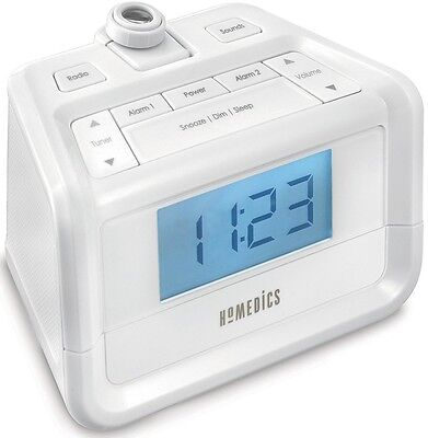 HoMedics SoundSpa White Noise Machine With Digital Clock Radio & Alarm