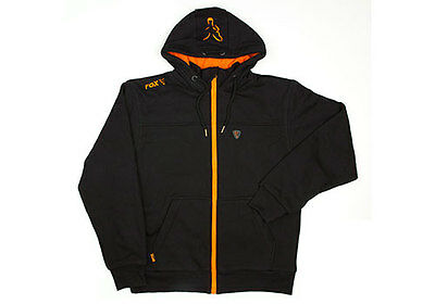 Fox NEW Black And Orange Fleece Heavy Lined Hoody Fishing Hoodie *All Sizes*