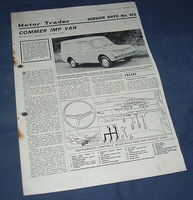 Motor Trader Service Data No. 452 - Commer Imp Van, October 1966
