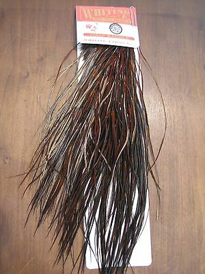 Fly Tying Whiting Bronze Half Rooster Saddle Furnace #A