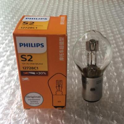 PHILIPS S2 12728C1 Motorcycle Headlight Bulb 12V 35/35W BA20d Headlamp Lighting