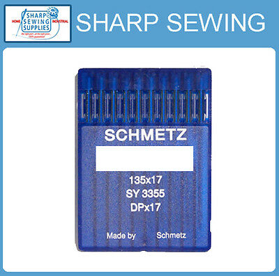 10 Schmetz  135X17 Size#22 / 140 Industrial Sewing Machine Needles Dpx17 Sy3355