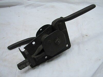 Antique Blacksmith Hand Forged Door Latch handle 1873 Signed Architectural