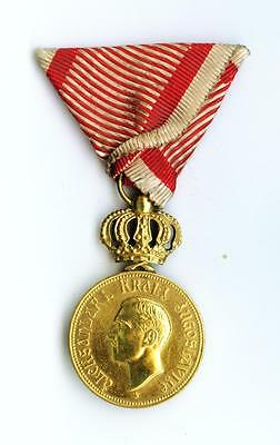 Rare Yugoslavia Serbia Royal House Merit Medal 1st class with crown Alexander I