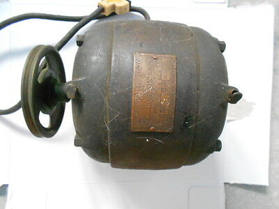 VINTAGE 1920's DOMESTIC ELECTRIC COMPANY MOTOR 1/5 HP 1750 RPM TYPE 1 RUNS ORIG