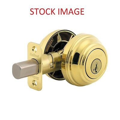Kwikset Double Cylinder Deadbolt featuring SmartKey, Polished Brass (99850-055)