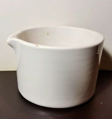 Stoneware Apothecary Medicine Mortar Signed Cooper