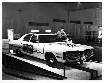 1972 Plymouth Fury Police Car ORIGINAL Factory Photo oad8542