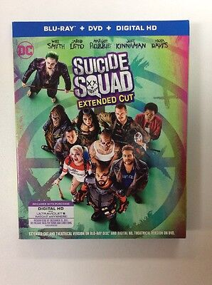 Suicide Squad Extended Cut, BLU RAY,& DIGITAL, No DVD, Read Description LIKE NEW