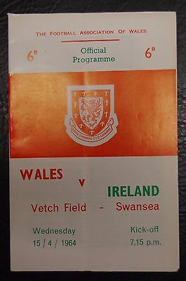 George Best Northern Ireland First Team Debut V Wales 15/04/1964  Programme
