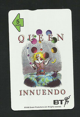 Queen Innuendo Limited Edition Numbered Phone Card Bt