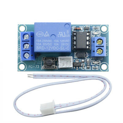 New 12V 1 Channel Latching Relay Module with Touch Bistable Switch MCU Control