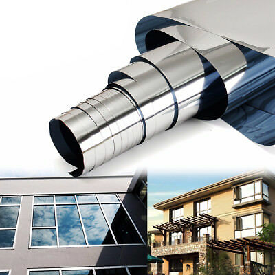3inch x 12ft 5% Mirror Silver Solar Reflective Window Film One Way Privacy Tint