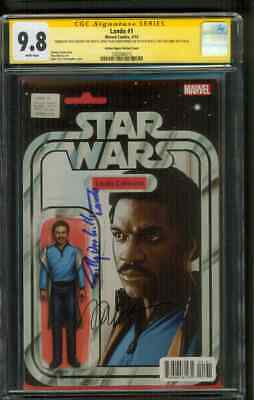 Star Wars Lando 1 CGC 9.8 3X SS Billy Dee Williams Remark Maleev Figure Variant