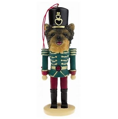 YORKIE PUPPY CUT DOG CHRISTMAS ORNAMENT NUTCRACKER SOLDIER HOLIDAY XMAS 5 inch