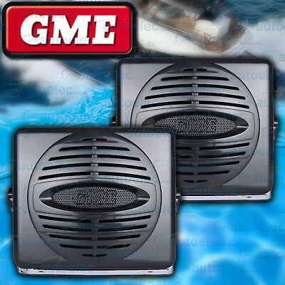 Gme Spk006 Black Speakers Outdoor Waterproof Dustproof Cd Stereo Mp3 Am Fm Vhf