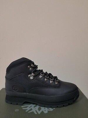 Timberland Men's Classic Leather Euro Hiker Black Boots