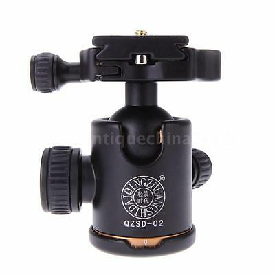 Q02 Camera Tripod Ball Head Ballhead & Quick Release Plate for DSLR Tripod J9L1